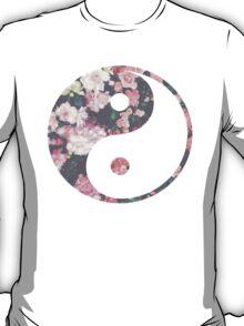 Floral Ying and Yang T-Shirt