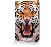 Raw tiger Greeting Card