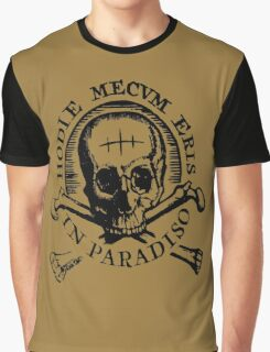 "Uncharted ""Hodie Mecvm Eris In Paradiso"" Graphic T-Shirt"