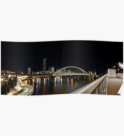 Rail Bridge Brisbane Poster