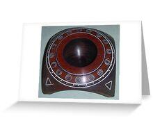 Small spaceship bowl Greeting Card