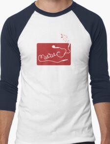 Music Earbuds Men's Baseball ¾ T-Shirt