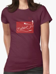 Music Earbuds Womens Fitted T-Shirt