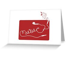 Music Earbuds Greeting Card