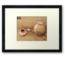 Rural area home interier 5 Framed Print