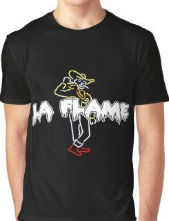 Travis Scott La Flame Dripping Logo Graphic T-Shirt