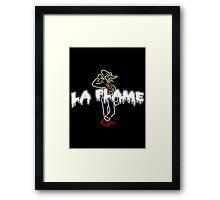 Travis Scott La Flame Dripping Logo Framed Print