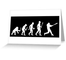 Baseball Evolution Funny T Shirt Greeting Card