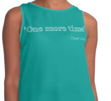 One More Time - Cheer Coach Contrast Tank