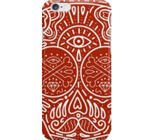 Scull illustration hipster iPhone Case/Skin