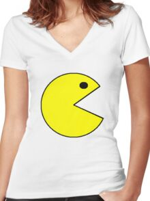 Pacman Women's Fitted V-Neck T-Shirt
