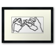 hands doing pinky promise Framed Print
