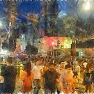 Crowd outside an event  by ashishagarwal74