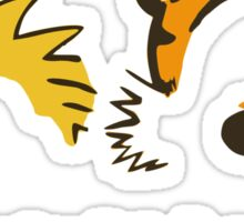 Calvin And Hobbes Run My Life Sticker