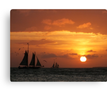 Sunset Sail in Key West III Canvas Print
