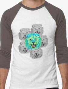 Lion / Löwe version 3 Men's Baseball ¾ T-Shirt