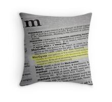 the verb is to macgyver Throw Pillow