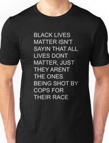 BLACK LIVES MATTER white text Unisex T-Shirt