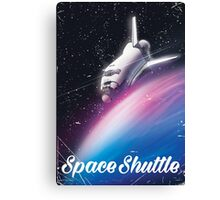 Space shuttle Science fiction space poster Canvas Print