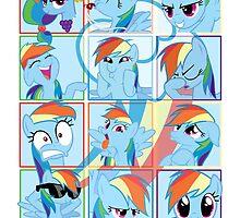 Mirror Pool of Pony - Rainbow Dash by ForeverDarkrai