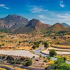 Cabecon del Oro from Busot panorama by Ralph Goldsmith