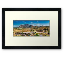 Cabecon del Oro from Busot panorama Framed Print