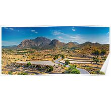 Cabecon del Oro from Busot panorama Poster