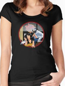 Pulp Fiction - Blue Mia@Jack Rabbits Variant Women's Fitted Scoop T-Shirt