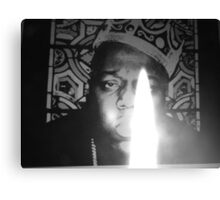 notorious BIG spits fire Canvas Print