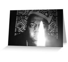 notorious BIG spits fire Greeting Card
