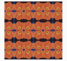 Orange Poppy Motif (VNS.10) One Piece - Short Sleeve