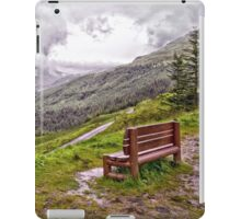 A bench with a view iPad Case/Skin
