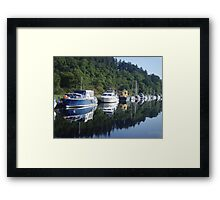 Boats on the Caledonian Canal Framed Print