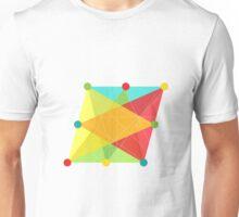 Crisscross Slanted Square Unisex T-Shirt