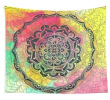 Rainbow Mandala Wall Tapestry