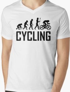 Biking Evolution Mens V-Neck T-Shirt