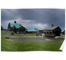 Gloomy day at the Vineyard Poster