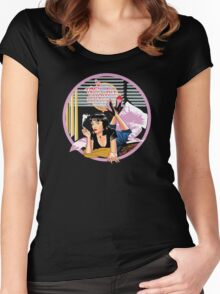 Pulp Fiction - Pink Mia@Jack Rabbits Variant Women's Fitted Scoop T-Shirt