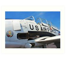 The Downwind T 28 US Air Force Trainer Art Print