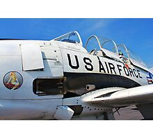 The Downwind T 28 US Air Force Trainer Photographic Print