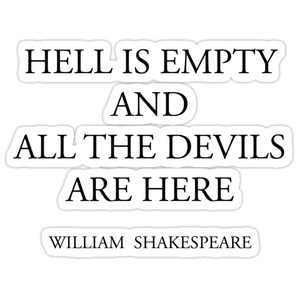 HELL IS EMPTY AND ALL THE DEVILS ARE HERE by Oleksii Rybakov