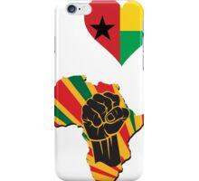 I Love Africa Map Black Power Guinea Bissau Flag T-Shirt iPhone Case/Skin