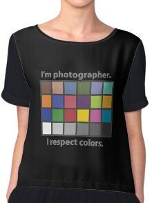 Colour charted t-shirt Chiffon Top