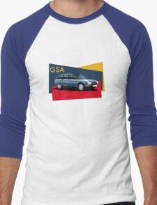 T-shirt Car Art - Citroen GSA Men's Baseball ¾ T-Shirt