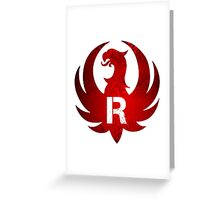 Red Ruger Firearms Greeting Card