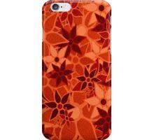 Orange Vintage Trendy Floral Pattern iPhone Case/Skin
