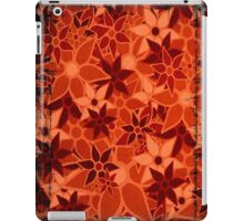 Orange Vintage Trendy Floral Pattern iPad Case/Skin