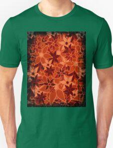 Orange Vintage Trendy Floral Pattern Unisex T-Shirt