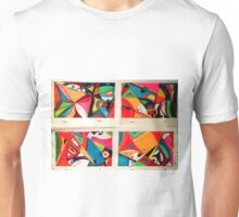 Fruit box Art - geometric abstract double diptych Unisex T-Shirt
