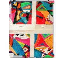 Fruit box Art - geometric abstract double diptych iPad Case/Skin